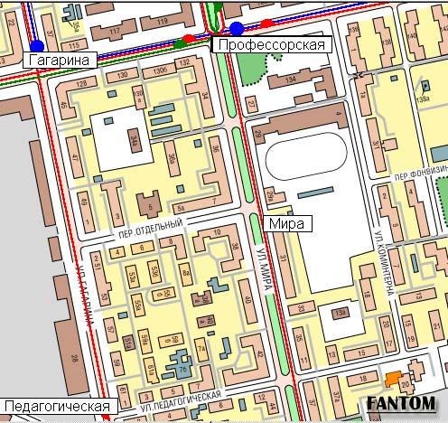 Схема проезда. Карта Автобусы